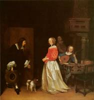 The Suitor's Visit by Gerard Terborch
