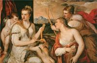 Venus Blindfolding Cupid by Titian