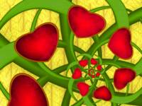 Fractal Red Hearts