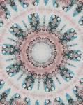 Blue and pink Rosette Motif No.20