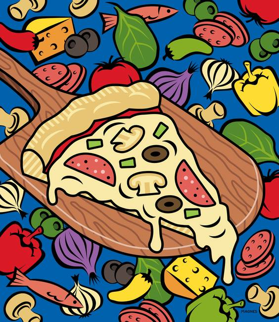 Slice of Pizza by Ron Magnes