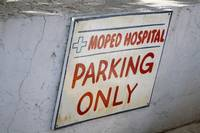 Moped Hospital Parking Sign