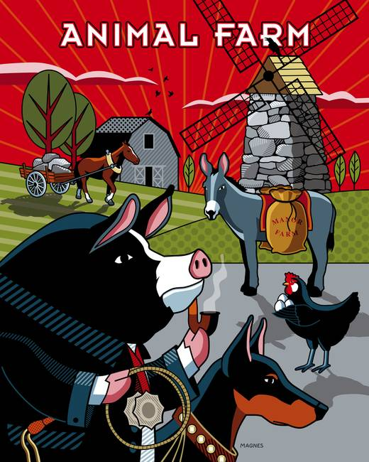 "political thought and the animal farm George orwell's classic ""animal farm"" is the pessimistic view people's sheep-like, conformist mentality and their animalistic tendencies."