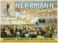 Herrmann the Great Bullet Catching Feat