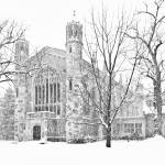 Snow on the Law Quad by James Howe