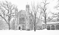Snow on the Law Quad