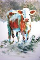 The Courage of Youth - Acrylic Cow Painting