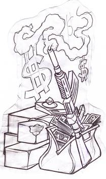 Guns And Money By Aksart