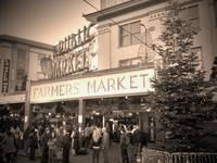 Pike Place Holiday In Sepia