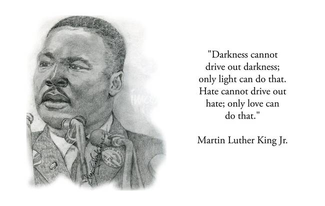 Inspirational Portrait of Martin Luther King Jr