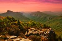The Linville Gorge Sunset  Hawksbill Table Rock Sh