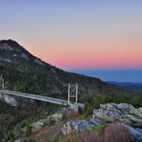 """Grandfather Mountain Mile High Swinging Bridge Dus"" by toddbush"