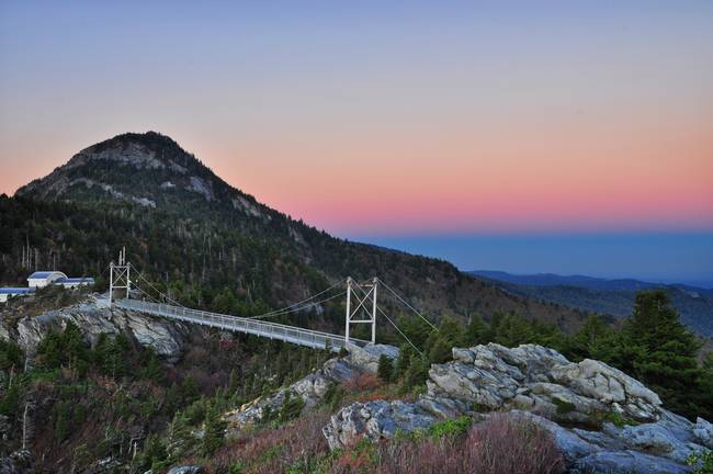 Grandfather Mountain Mile High Swinging Bridge Dus By Todd Bush