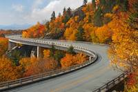 Linn Cove Viaduct Blue Ridge Parkway Autumn Linvil