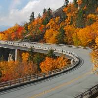 """Linn Cove Viaduct Blue Ridge Parkway Autumn Linvil"" by toddbush"