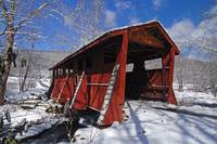 Covered Bridge Winter Snow - Sleepy Hollow Foscoe,