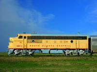 Old South Dakota Central Train Engine, Badlands, S