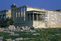 Erechtheum & Caryatids, the Acropolis, Athens 2003 by Priscilla Turner