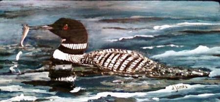 Common Loon fishing