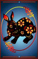 Black Designed Rabbit