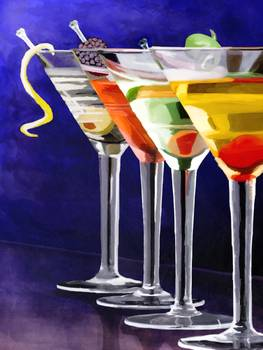 How To Paint A Martini Glass