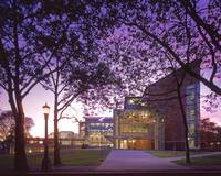 Gates Law School at Twilight