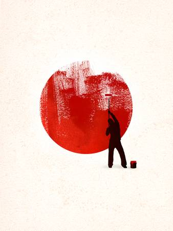 Help Japan by rob dobi. From the artist: All profits from poster to benefit disaster recovery in Japan.