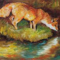 RED FOX I by Marcia Baldwin