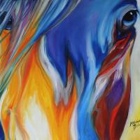 ABSTRACT BLUE FACE by Marcia Baldwin