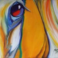 EQUINE ABSTRACT EYE of BEAUTY by Marcia Baldwin