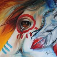 WAR HORSE SPIRIT EYE by Marcia Baldwin