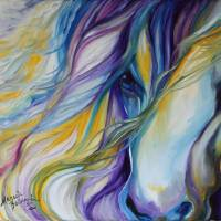 BREEZE EQUINE ABSTRACT by Marcia Baldwin