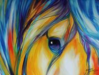 EQUINE ABSTRACT EYE OF LOYALTY