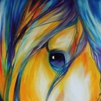 EQUINE ABSTRACT EYE OF LOYALTY by Marcia Baldwin
