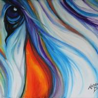 EQUINE ABSTRACT EYE of COMPASION by Marcia Baldwin