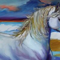 STORMY SURF EQUINE by Marcia Baldwin