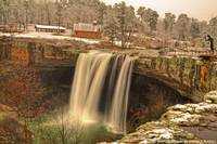 Noccalula Falls on Snow Day