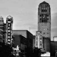 """Downtown Ann Arbor - BlackAndWhite"" by patsphotos"