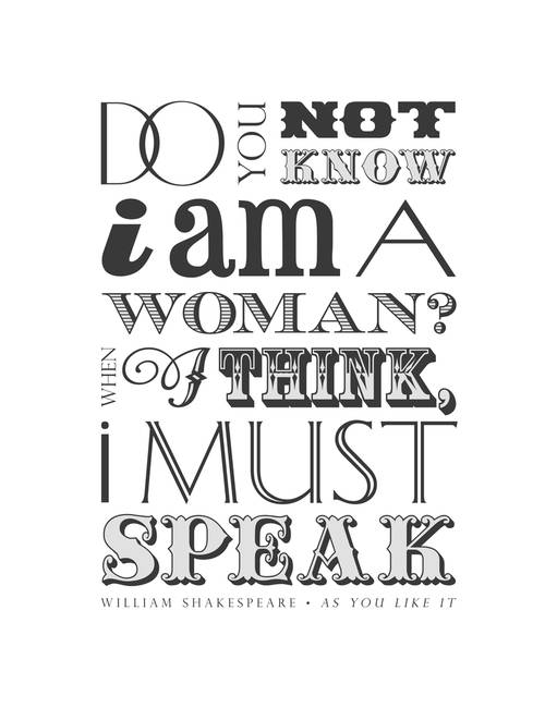 Women Must Speak • White