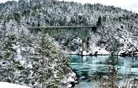Deception Pass Snow Bridge