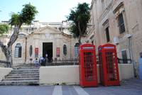 Red Telephone Boxes in Valletta