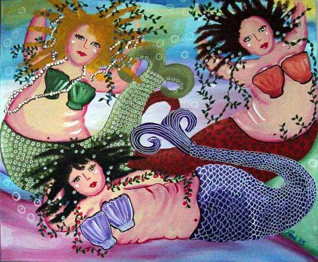 Colorful Mermaids Trio