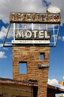 Neon Sign Desert Gem Motel