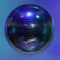 Mirror ball, spin, blue