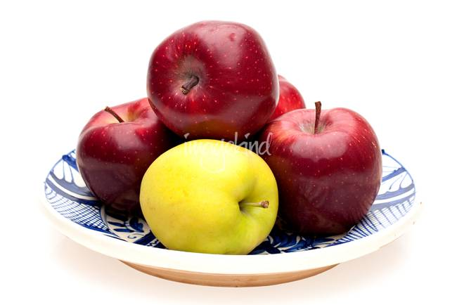 Plate With Apples