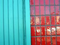 Textures Turquoise Red