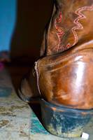 dirty cowboy boot