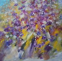 Violets - Flower painting 2011