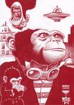 Monkey Masters from another planet Posters