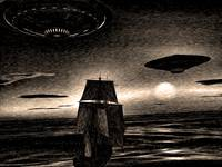 Sailing Ship and the UFO 2